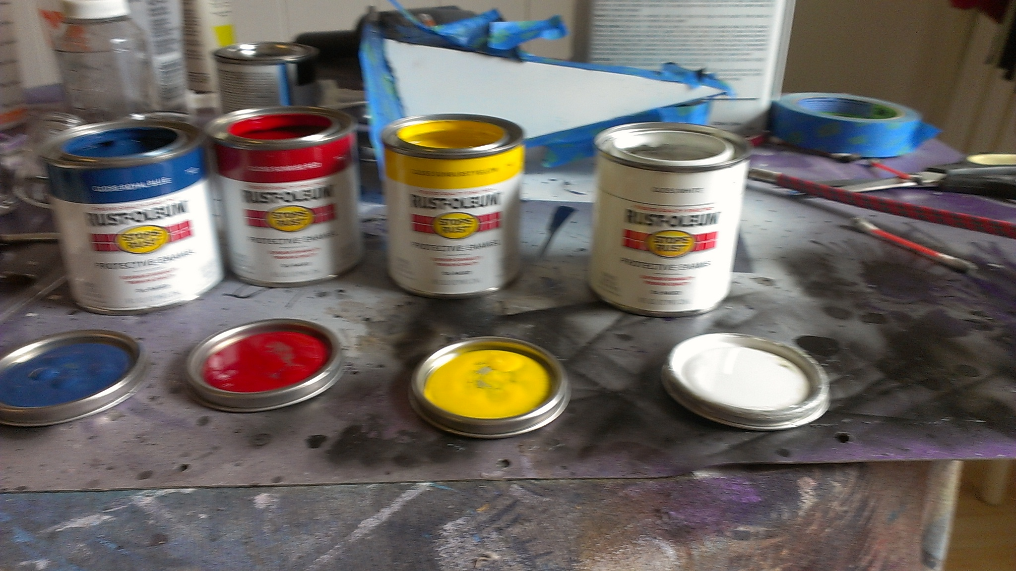 Mixing Grey Acrylic Paint